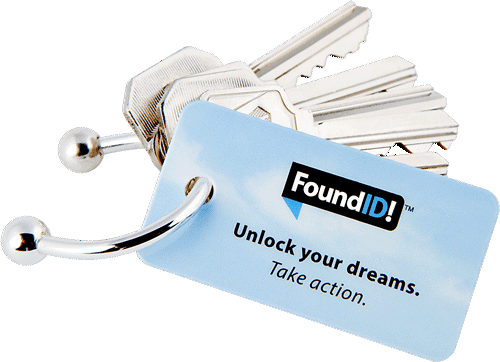 Key ring with FoundId tag.