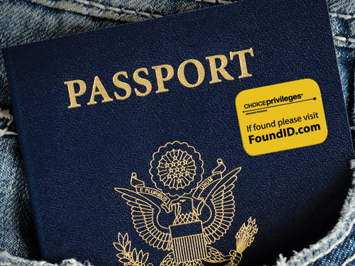 Passport with Found ID sticker